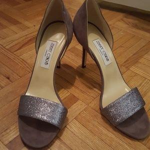 NWOT Jimmy Choo glitter heels